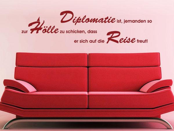 lustige wandtattoo spr che. Black Bedroom Furniture Sets. Home Design Ideas
