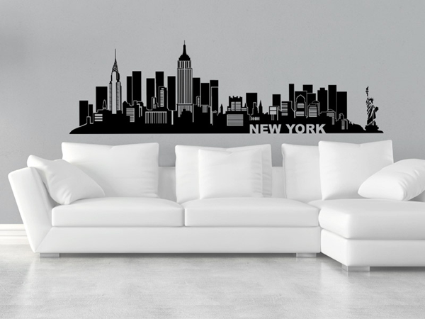 wandtattoo skylines. Black Bedroom Furniture Sets. Home Design Ideas
