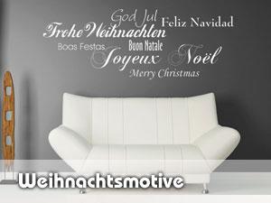 Weihnachtsdeko Wandtattoo