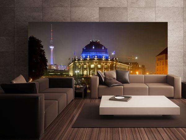 Fototapete Berlin bei Nacht