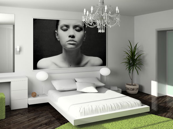 wandgestaltung des schlafzimmers. Black Bedroom Furniture Sets. Home Design Ideas
