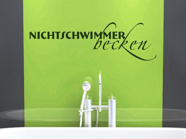 """Wandtattoo Spruch """"Nichtschwimmerbecken"""""""