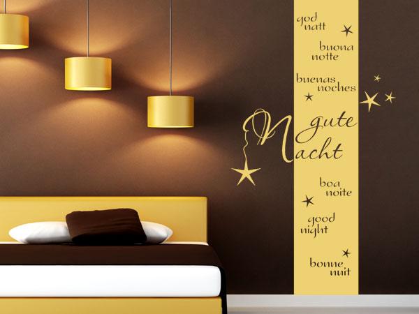 Gute Nacht Wandbanner