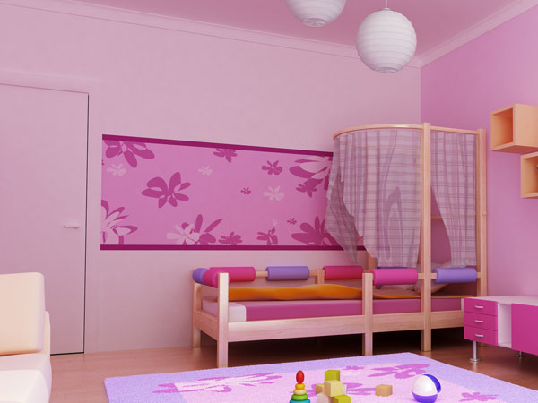wandgestaltung kinderzimmer madchen ideen. Black Bedroom Furniture Sets. Home Design Ideas