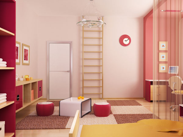 Sprossenwand Kinderzimmer