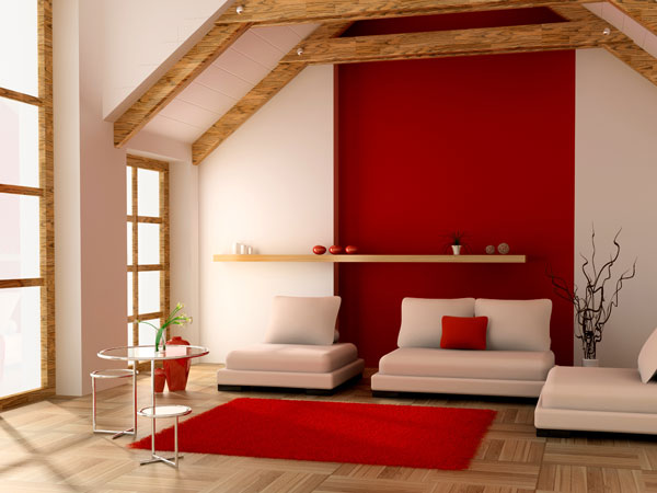 raumakzente mit rot rote w nde als eyecatcher in der. Black Bedroom Furniture Sets. Home Design Ideas