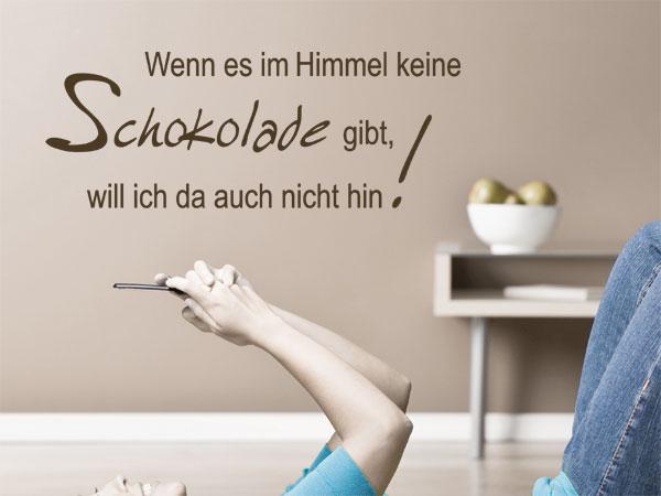 """Wandtattoo Spruch """"Wenn es im Himmel"""""""