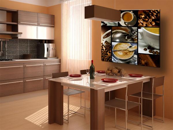 Küche Fotoleinwand Kaffee
