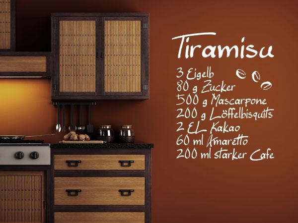 Wandtattoo Rezept Tiramisu