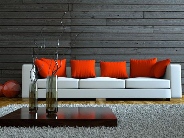 Wohnzimmer Holzvertäfelung