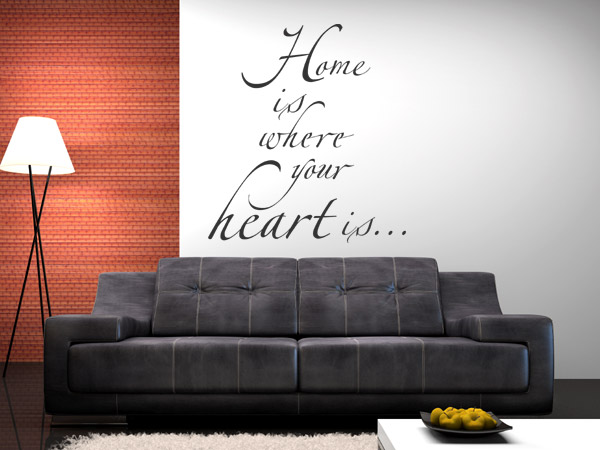 Wandtattoo Spruch Home is