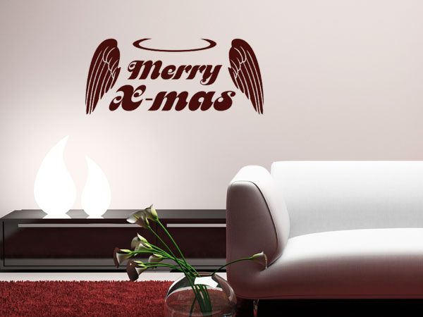 Wandtattoo Merry X-mas
