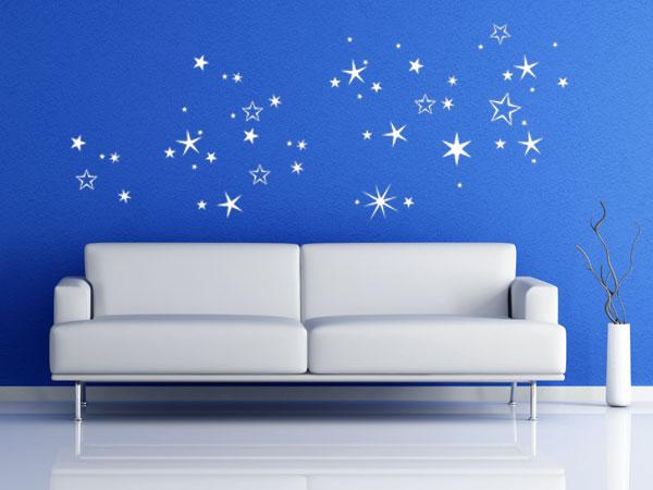 Wandtattoo Weihnachtlicher Sternenhimmel