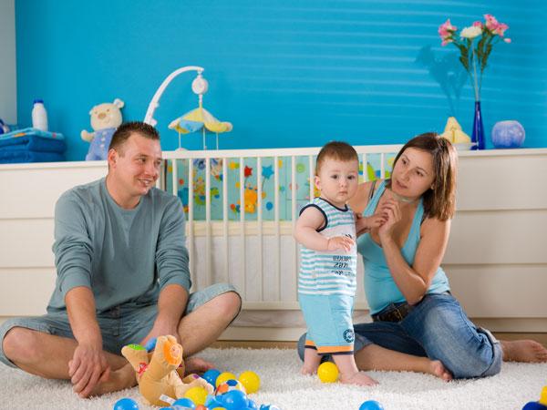 Blautöne im Jungenzimmer