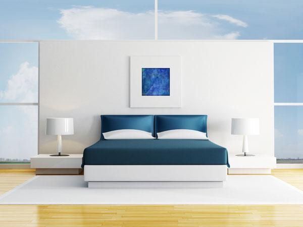 Blaue Farben im Raum