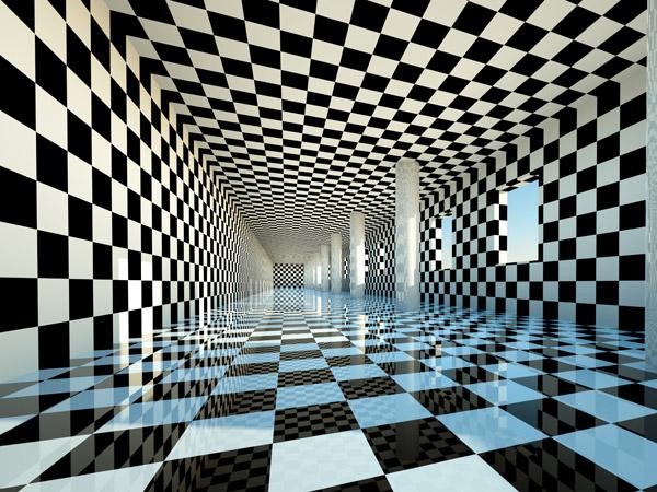 zu viel Muster - optische Illusion